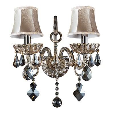 Lightstar NATIVO 715627 Светильник настенный браКлассические<br><br><br>S освещ. до, м2: 6<br>Крепление: настенное<br>Тип лампы: накаливания / энергосбережения / LED-светодиодная<br>Тип цоколя: E14<br>Количество ламп: 2<br>Ширина, мм: 250<br>MAX мощность ламп, Вт: 40<br>Размеры: W 250 H 430 Выступ 200<br>Расстояние от стены, мм: 200<br>Высота, мм: 430<br>Оттенок (цвет): бежевый<br>Цвет арматуры: коричневый