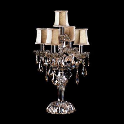 Lightstar NATIVO 715957 Настольная лампаХрустальные<br>Настольная лампа – это не просто источник дополнительного освещения, но и оригинальный элемент декора. Его можно установить в спальне, гостиной, кабинете и других комнатах. Интернет-магазин «Светодом» предлагает настольные лампы разных стилей по доступным ценам. Благодаря большому ассортименту Вы обязательно найдете в нашем каталоге именно ту модель, которую искали.   Настольная лампа Lightstar 715957 – прекрасный вариант для завершения интерьера. Ее можно включить одновременно с люстрой для более яркого освещения или без нее для создания уютной атмосферы, настраивающей на отдых.   Купить настольную лампу Lightstar 715957 Вы можете с помощью виртуальной «Корзины» или по контактным номерам, указанным на сайте.<br><br>S освещ. до, м2: 13<br>Тип лампы: накал-я - энергосбер-я<br>Тип цоколя: E14<br>Количество ламп: 5<br>MAX мощность ламп, Вт: 40<br>Диаметр, мм мм: 400<br>Размеры: D 670 H 400<br>Высота, мм: 670<br>Цвет арматуры: серебристый