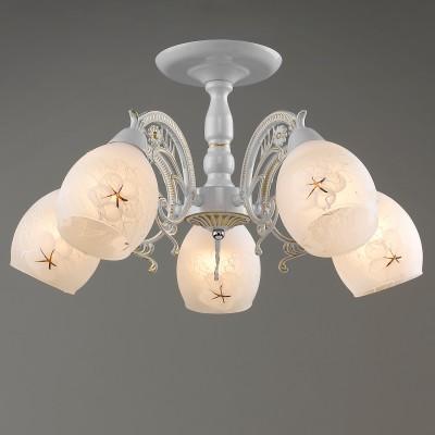 Светильник Colosseo 71619/5C optimaПотолочные<br><br><br>Тип товара: люстры потолочные<br>Тип цоколя: E14<br>Количество ламп: 5<br>MAX мощность ламп, Вт: 60<br>Диаметр, мм мм: 550<br>Высота, мм: 255<br>Цвет арматуры: золотой