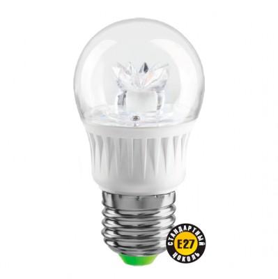 Лампа Navigator 71 855 NLL-G45-7-230-2.7K-E27-CLСветодиодные лампы для люстр в виде шарика<br>В интернет-магазине «Светодом» можно купить не только люстры и светильники, но и лампочки. В нашем каталоге представлены светодиодные, галогенные, энергосберегающие модели и лампы накаливания. В ассортименте имеются изделия разной мощности, поэтому у нас Вы сможете приобрести все необходимое для освещения.   Лампа Navigator 71 855 NLL-G45-7-230-2.7K-E27-CL обеспечит отличное качество освещения. При покупке ознакомьтесь с параметрами в разделе «Характеристики», чтобы не ошибиться в выборе. Там же указано, для каких осветительных приборов Вы можете использовать лампу Navigator 71 855 NLL-G45-7-230-2.7K-E27-CLNavigator 71 855 NLL-G45-7-230-2.7K-E27-CL.   Для оформления покупки воспользуйтесь «Корзиной». При наличии вопросов Вы можете позвонить нашим менеджерам по одному из контактных номеров. Мы доставляем заказы в Москву, Екатеринбург и другие города России.<br><br>Цветовая t, К: WW - теплый белый 2700-3000 К<br>Тип лампы: LED - светодиодная<br>Тип цоколя: E27<br>Диаметр, мм мм: 45<br>Высота, мм: 90<br>MAX мощность ламп, Вт: 7