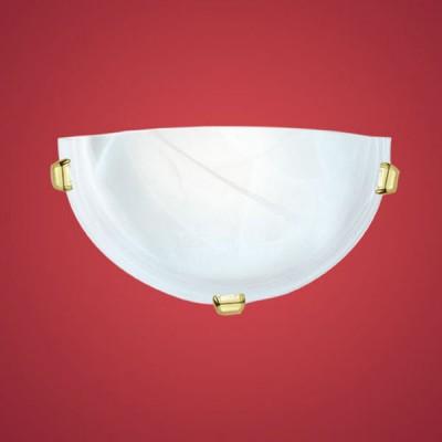 Eglo SALOME 7187 Настенно-потолочный светильникНакладные<br><br><br>S освещ. до, м2: 4<br>Тип лампы: накаливания / энергосбережения / LED-светодиодная<br>Тип цоколя: E27<br>Цвет арматуры: латунь<br>Количество ламп: 1<br>Размеры основания, мм: 0<br>Длина, мм: 300<br>Расстояние от стены, мм: 90<br>Высота, мм: 150<br>Оттенок (цвет): белый<br>MAX мощность ламп, Вт: 2<br>Общая мощность, Вт: 1X60W