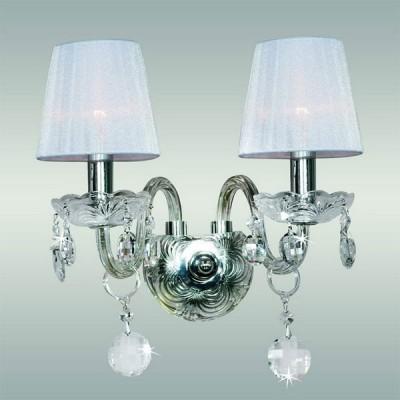 Светильник настенный Favourite 7189-2W RoyalКлассические<br><br><br>S освещ. до, м2: 5<br>Тип лампы: накаливания / энергосбережения / LED-светодиодная<br>Тип цоколя: E14<br>Цвет арматуры: серебристый<br>Количество ламп: 2<br>Ширина, мм: 280<br>Диаметр, мм мм: 200<br>Размеры: W280*H320*D200<br>Расстояние от стены, мм: 200<br>Высота, мм: 320<br>Оттенок (цвет): серебристый<br>MAX мощность ламп, Вт: 40