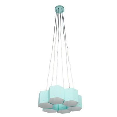 Светильник Mw light 719010306подвесные люстры<br>Оригинальный дизайн, трендовая цветовая палитра и возможность видоизменять композицию - главные достоинства этой необычной люстры. Металлическое основание и плафоны выполнены из металла нежного мятного оттенка. Изюминка плафонов в том, что они имеют встроенные магниты: благодаря такому решению можно менять форму соединения между ними, создавая ещё более оригинальные и неповторимые световые композиции.<br><br>S освещ. до, м2: 18<br>Тип лампы: Энергосберегающие, светодиодные, накаливания<br>Тип цоколя: Е27<br>Цвет арматуры: белая<br>Количество ламп: 6<br>Диаметр, мм мм: 1000<br>Высота полная, мм: 1200<br>Поверхность арматуры: матовая<br>Оттенок (цвет): белый<br>MAX мощность ламп, Вт: 60