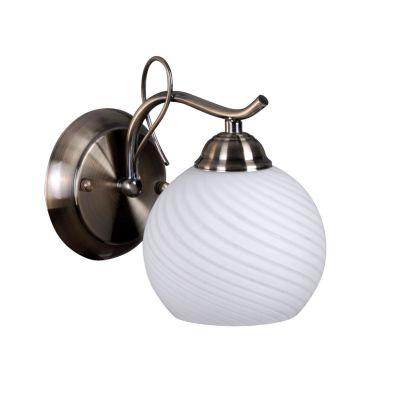 Светильник бра Colosseo 71903/1WМодерн<br>Настенный светильник Colosseo 71903/1W предназначен для ценителей оригинальных и стильных оформлений интерьера. Плавные линии арматуры повторяются в рисунке плафона, элегантно сочетаются между собой оттенки бронзы и белого матового цветов, создавая безупречный образ, который великолепно впишется в любую комнату – от спальни до детской. Лучше всего настенные бра смотрятся в комплекте из нескольких экземпляров и люстрой той же серии, придавая интерьеру законченный и профессиональный вид. Рекомендуем Вам в цветовой палитре комнаты использовать похожие оттенки, например, в шторах, мебели, покрывалах и два-три контрастных цвета для акцента на аксессуарах – красную вазу, желтые диванные подушки и т.п.<br><br>S освещ. до, м2: 4<br>Крепление: настенное<br>Тип лампы: накаливания / энергосбережения / LED-светодиодная<br>Тип цоколя: E27<br>Количество ламп: 1<br>Ширина, мм: 130<br>MAX мощность ламп, Вт: 60<br>Расстояние от стены, мм: 220<br>Высота, мм: 180<br>Цвет арматуры: бронзовый