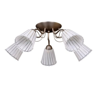 Люстра Colosseo 71920/5C BATTISTAПотолочные<br><br><br>Установка на натяжной потолок: Ограничено<br>S освещ. до, м2: 20<br>Крепление: Планка<br>Тип товара: Люстра<br>Скидка, %: 41<br>Тип лампы: накаливания / энергосбережения / LED-светодиодная<br>Тип цоколя: E14<br>Количество ламп: 5<br>MAX мощность ламп, Вт: 60<br>Диаметр, мм мм: 650<br>Высота, мм: 230<br>Цвет арматуры: серый