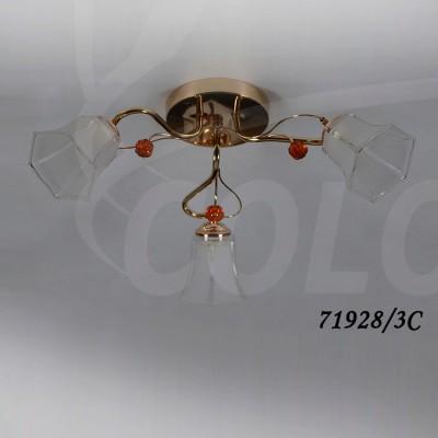 Светильник Colosseo 71928/3C optimaПотолочные<br>Компания «Светодом» предлагает широкий ассортимент люстр от известных производителей. Представленные в нашем каталоге товары выполнены из современных материалов и обладают отличным качеством. Благодаря широкому ассортименту Вы сможете найти у нас люстру под любой интерьер. Мы предлагаем как классические варианты, так и современные модели, отличающиеся лаконичностью и простотой форм.  Стильная люстра Colosseo 71928/3C станет украшением любого дома. Эта модель от известного производителя не оставит равнодушным ценителей красивых и оригинальных предметов интерьера. Люстра Colosseo 71928/3C обеспечит равномерное распределение света по всей комнате. При выборе обратите внимание на характеристики, позволяющие приобрести наиболее подходящую модель. Купить понравившуюся люстру по доступной цене Вы можете в интернет-магазине «Светодом». Мы предлагаем доставку не только по Москве и Екатеринбурге, но и по всей России.<br><br>S освещ. до, м2: 9<br>Тип цоколя: E14<br>Количество ламп: 3<br>Ширина, мм: 530<br>MAX мощность ламп, Вт: 40<br>Диаметр, мм мм: 530<br>Длина, мм: 530<br>Высота, мм: 230<br>Цвет арматуры: золотой, прозрачный хрусталь