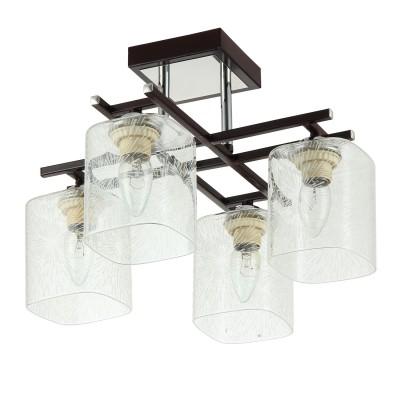 Светильник Colosseo 72136/4C optimaПотолочные<br><br><br>Тип товара: люстры потолочные<br>Тип цоколя: E27<br>Количество ламп: 4<br>MAX мощность ламп, Вт: 60<br>Диаметр, мм мм: 380<br>Высота, мм: 272