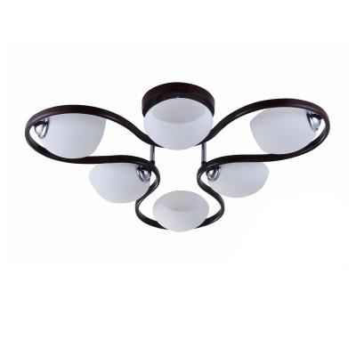 COLOSSEO optima 72155/6C венге/хром E27 6*60WПотолочные<br><br><br>S освещ. до, м2: 18<br>Тип лампы: Накаливания / энергосбережения / светодиодная<br>Тип цоколя: E27<br>Количество ламп: 6<br>MAX мощность ламп, Вт: 60<br>Диаметр, мм мм: 740<br>Высота, мм: 200