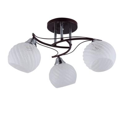 Светильник Colosseo 72156/3C OptimaПотолочные<br><br><br>Установка на натяжной потолок: Да<br>S освещ. до, м2: 9<br>Крепление: Планка<br>Тип лампы: Накаливания / энергосбережения / светодиодная<br>Тип цоколя: E27<br>Цвет арматуры: венге / хром серебристый<br>Количество ламп: 3<br>Диаметр, мм мм: 580<br>Высота, мм: 260<br>MAX мощность ламп, Вт: 60