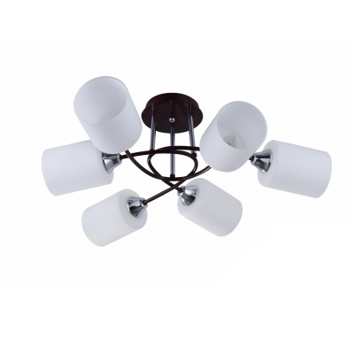 COLOSSEO optima 72158/6C венге/хром E27 6*60WПотолочные<br><br><br>S освещ. до, м2: 18<br>Крепление: Планка<br>Тип лампы: Накаливания / энергосбережения / светодиодная<br>Тип цоколя: E27<br>Количество ламп: 6<br>MAX мощность ламп, Вт: 60<br>Диаметр, мм мм: 670<br>Высота, мм: 230<br>Цвет арматуры: венге, хром