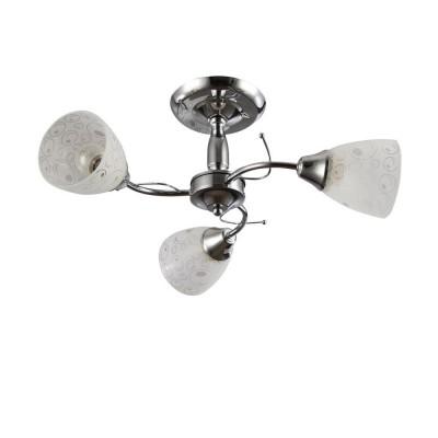 Светильник Colosseo 72160/3C OptimaПотолочные<br><br><br>S освещ. до, м2: 9<br>Тип лампы: Накаливания / энергосбережения / светодиодная<br>Тип цоколя: E27<br>Количество ламп: 3<br>MAX мощность ламп, Вт: 60<br>Диаметр, мм мм: 540<br>Высота, мм: 220<br>Цвет арматуры: хром серебристый
