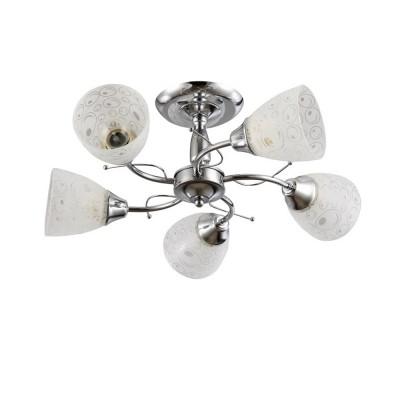 Светильник Colosseo 72160/5C OptimaПотолочные<br><br><br>S освещ. до, м2: 15<br>Тип лампы: Накаливания / энергосбережения / светодиодная<br>Тип цоколя: E27<br>Количество ламп: 5<br>MAX мощность ламп, Вт: 60<br>Диаметр, мм мм: 540<br>Высота, мм: 220<br>Цвет арматуры: хром серебристый