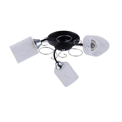 Светильник Colosseo 72162/3C OptimaПотолочные<br><br><br>Установка на натяжной потолок: Да<br>S освещ. до, м2: 9<br>Крепление: Планка<br>Тип лампы: Накаливания / энергосбережения / светодиодная<br>Тип цоколя: E27<br>Количество ламп: 3<br>MAX мощность ламп, Вт: 60<br>Диаметр, мм мм: 630<br>Высота, мм: 210<br>Цвет арматуры: черный / хром серебристый