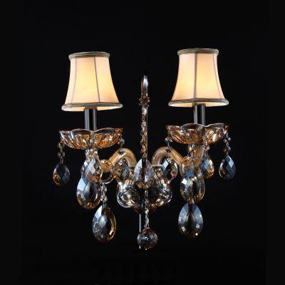 Lightstar ACESSO 721623 Светильник настенный браХрустальные<br><br><br>S освещ. до, м2: 6<br>Крепление: настенное<br>Тип лампы: накаливания / энергосбережения / LED-светодиодная<br>Тип цоколя: E14<br>Количество ламп: 2<br>Ширина, мм: 370<br>MAX мощность ламп, Вт: 40<br>Размеры: W 360 H 390 Выступ 230<br>Расстояние от стены, мм: 210<br>Высота, мм: 400<br>Оттенок (цвет): бежевый<br>Цвет арматуры: коричневый
