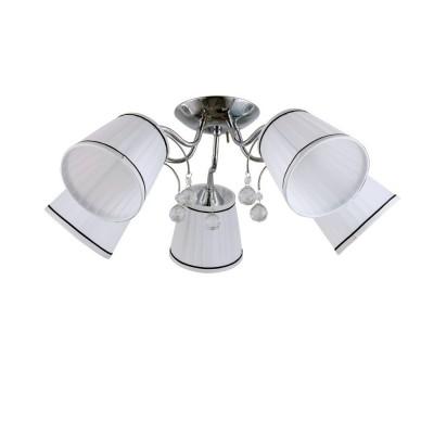 Светильник Colosseo 72168/5C OptimaПотолочные<br><br><br>S освещ. до, м2: 15<br>Тип лампы: Накаливания / энергосбережения / светодиодная<br>Тип цоколя: E27<br>Количество ламп: 5<br>MAX мощность ламп, Вт: 60<br>Диаметр, мм мм: 620<br>Высота, мм: 300<br>Цвет арматуры: хром серебристый