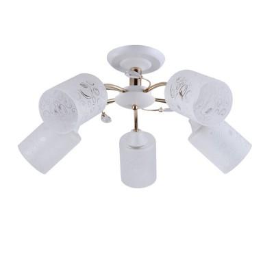 Светильник Colosseo 72169/5C OptimaПотолочные<br><br><br>S освещ. до, м2: 15<br>Тип лампы: Накаливания / энергосбережения / светодиодная<br>Тип цоколя: E27<br>Количество ламп: 5<br>MAX мощность ламп, Вт: 60<br>Диаметр, мм мм: 600<br>Высота, мм: 280<br>Цвет арматуры: белый / золотой
