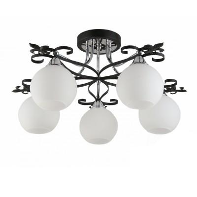 Светильник Colosseo 72176/5C OptimaПотолочные<br><br><br>Установка на натяжной потолок: Да<br>S освещ. до, м2: 15<br>Крепление: Планка<br>Тип лампы: Накаливания / энергосбережения / светодиодная<br>Тип цоколя: E27<br>Количество ламп: 5<br>MAX мощность ламп, Вт: 60<br>Диаметр, мм мм: 670<br>Высота, мм: 310<br>Цвет арматуры: черный / хром серебристый