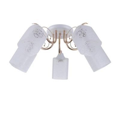 Светильник Colosseo 72179/5C OptimaПотолочные<br><br><br>Тип лампы: Накаливания / энергосбережения / светодиодная<br>Тип цоколя: E27<br>Количество ламп: 5<br>MAX мощность ламп, Вт: 60<br>Диаметр, мм мм: 590<br>Высота, мм: 215<br>Цвет арматуры: белый / золотой