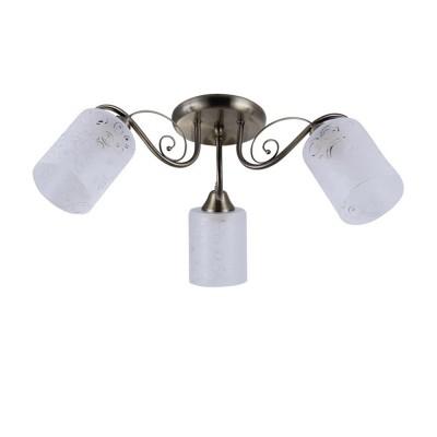 Светильник Colosseo 72182/3C OptimaПотолочные<br><br><br>Тип лампы: Накаливания / энергосбережения / светодиодная<br>Тип цоколя: E27<br>Количество ламп: 3<br>MAX мощность ламп, Вт: 60<br>Диаметр, мм мм: 600<br>Высота, мм: 220<br>Цвет арматуры: бронзовый