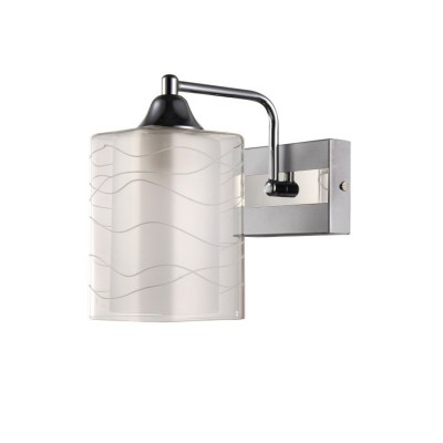 Светильник Colosseo 72184/1W OptimaМодерн<br><br><br>Тип лампы: Накаливания / энергосбережения / светодиодная<br>Тип цоколя: E27<br>Количество ламп: 1<br>Ширина, мм: 120<br>MAX мощность ламп, Вт: 60<br>Длина, мм: 210<br>Высота, мм: 200<br>Цвет арматуры: белый / хром серебристый
