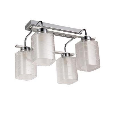 Светильник Colosseo 72184/4C Optimaсовременные потолочные люстры модерн<br><br><br>Тип лампы: Накаливания / энергосбережения / светодиодная<br>Тип цоколя: E27<br>Цвет арматуры: серебристый хром<br>Количество ламп: 4<br>Ширина, мм: 370<br>Высота полная, мм: 290<br>Длина, мм: 390<br>Высота, мм: 290<br>Поверхность арматуры: глянцевая<br>Оттенок (цвет): серебристый<br>MAX мощность ламп, Вт: 60