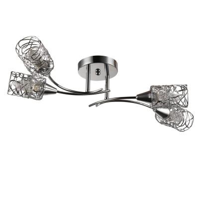 Светильник Colosseo 72187/4C OptimaПотолочные<br><br><br>Тип лампы: Накаливания / энергосбережения / светодиодная<br>Тип цоколя: E14<br>Количество ламп: 4<br>Ширина, мм: 240<br>MAX мощность ламп, Вт: 60<br>Длина, мм: 520<br>Высота, мм: 200<br>Цвет арматуры: хром серебристый