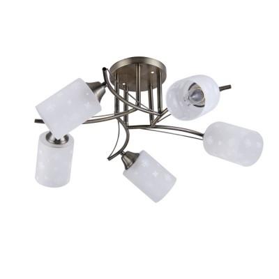 Светильник Colosseo 72194/5C OptimaПотолочные<br><br><br>Тип лампы: Накаливания / энергосбережения / светодиодная<br>Тип цоколя: E27<br>Количество ламп: 5<br>MAX мощность ламп, Вт: 60<br>Диаметр, мм мм: 600<br>Высота, мм: 260<br>Цвет арматуры: бронзовый