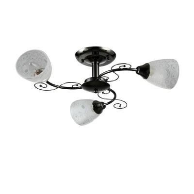 Светильник Colosseo 72195/3C OptimaПотолочные<br><br><br>Установка на натяжной потолок: Да<br>S освещ. до, м2: 9<br>Крепление: Планка<br>Тип лампы: Накаливания / энергосбережения / светодиодная<br>Тип цоколя: E27<br>Цвет арматуры: черный (антрацит)<br>Количество ламп: 3<br>Диаметр, мм мм: 595<br>Высота, мм: 240<br>MAX мощность ламп, Вт: 60