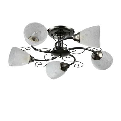 Светильник Colosseo 72195/5C OptimaПотолочные<br><br><br>S освещ. до, м2: 15<br>Крепление: Планка<br>Тип лампы: Накаливания / энергосбережения / светодиодная<br>Тип цоколя: E27<br>Количество ламп: 5<br>MAX мощность ламп, Вт: 60<br>Диаметр, мм мм: 595<br>Высота, мм: 240<br>Цвет арматуры: черный (антрацит)