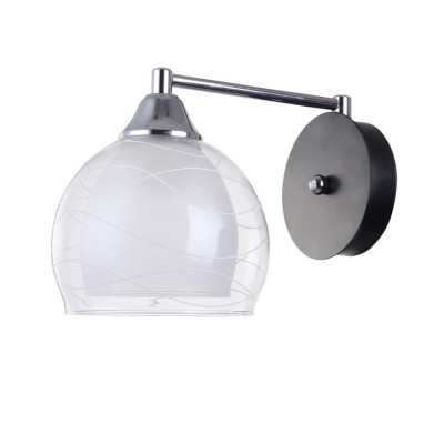 Светильник Colosseo 72198/1W OptimaМодерн<br><br><br>Тип лампы: Накаливания / энергосбережения / светодиодная<br>Тип цоколя: E27<br>Количество ламп: 1<br>Ширина, мм: 150<br>MAX мощность ламп, Вт: 60<br>Длина, мм: 260<br>Высота, мм: 170<br>Цвет арматуры: черный / хром серебристый