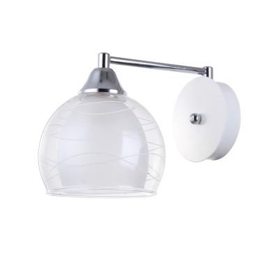 Светильник Colosseo 72199/1W OptimaСовременные<br><br><br>Тип лампы: Накаливания / энергосбережения / светодиодная<br>Тип цоколя: E27<br>Количество ламп: 1<br>Ширина, мм: 150<br>MAX мощность ламп, Вт: 60<br>Длина, мм: 260<br>Высота, мм: 170<br>Цвет арматуры: белый / хром серебристый