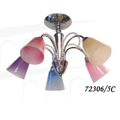 Светильник Colosseo 72306/5C optimaПотолочные<br>Компания «Светодом» предлагает широкий ассортимент люстр от известных производителей. Представленные в нашем каталоге товары выполнены из современных материалов и обладают отличным качеством. Благодаря широкому ассортименту Вы сможете найти у нас люстру под любой интерьер. Мы предлагаем как классические варианты, так и современные модели, отличающиеся лаконичностью и простотой форм.  Стильная люстра Colosseo 72306/5C станет украшением любого дома. Эта модель от известного производителя не оставит равнодушным ценителей красивых и оригинальных предметов интерьера. Люстра Colosseo 72306/5C обеспечит равномерное распределение света по всей комнате. При выборе обратите внимание на характеристики, позволяющие приобрести наиболее подходящую модель. Купить понравившуюся люстру по доступной цене Вы можете в интернет-магазине «Светодом».<br><br>S освещ. до, м2: 15<br>Крепление: Планка<br>Тип цоколя: E14<br>Количество ламп: 5<br>Ширина, мм: 330<br>MAX мощность ламп, Вт: 60<br>Диаметр, мм мм: 580<br>Длина, мм: 580<br>Высота, мм: 330<br>Цвет арматуры: серебристый хром