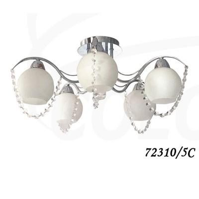 Светильник Colosseo 72310/5C optimaПотолочные<br><br><br>S освещ. до, м2: 15<br>Тип товара: Люстра потолочная<br>Скидка, %: 11<br>Тип цоколя: E14<br>Количество ламп: 5<br>Ширина, мм: 580<br>MAX мощность ламп, Вт: 60<br>Диаметр, мм мм: 580<br>Длина, мм: 580<br>Высота, мм: 270<br>Цвет арматуры: серебристый хром