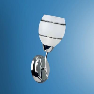 Светильник настенный бра Colosseo 72402/1W JESSICAМодерн<br><br><br>Тип товара: Светильник настенный бра<br>Тип лампы: Накаливания / энергосбережения / светодиодная<br>Тип цоколя: E14<br>Количество ламп: 1<br>Ширина, мм: 120<br>MAX мощность ламп, Вт: 60<br>Расстояние от стены, мм: 150<br>Высота, мм: 280<br>Цвет арматуры: серебристиый хром