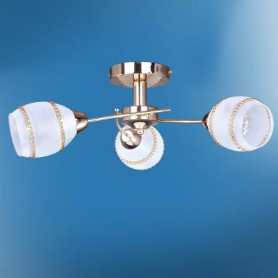 Люстра Colosseo 72403/3C JESSICAПотолочные<br>Компания «Светодом» предлагает широкий ассортимент люстр от известных производителей. Представленные в нашем каталоге товары выполнены из современных материалов и обладают отличным качеством. Благодаря широкому ассортименту Вы сможете найти у нас люстру под любой интерьер. Мы предлагаем как классические варианты, так и современные модели, отличающиеся лаконичностью и простотой форм.   Стильная люстра Colosseo 72403/3C станет украшением любого дома. Эта модель от известного производителя не оставит равнодушным ценителей красивых и оригинальных предметов интерьера. Люстра Colosseo 72403/3C обеспечит равномерное распределение света по всей комнате. При выборе обратите внимание на характеристики, позволяющие приобрести наиболее подходящую модель.   Купить понравившуюся люстру по доступной цене Вы можете в интернет-магазине «Светодом».<br><br>Установка на натяжной потолок: Да<br>S освещ. до, м2: 9<br>Крепление: Планка<br>Тип лампы: Накаливания / энергосбережения / светодиодная<br>Тип цоколя: E14<br>Цвет арматуры: золотой<br>Количество ламп: 3<br>Диаметр, мм мм: 605<br>Высота, мм: 225<br>MAX мощность ламп, Вт: 60