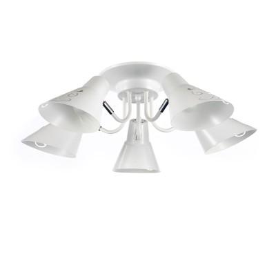 Светильник Colosseo optima 72430/5C матовый белыйсовременные потолочные люстры модерн<br><br><br>Тип лампы: Накаливания / энергосбережения / светодиодная<br>Тип цоколя: E14<br>Цвет арматуры: белый<br>Количество ламп: 5<br>Диаметр, мм мм: 610<br>Высота, мм: 190<br>Поверхность арматуры: блестящая<br>Оттенок (цвет): белый<br>MAX мощность ламп, Вт: 60<br>Общая мощность, Вт: 300