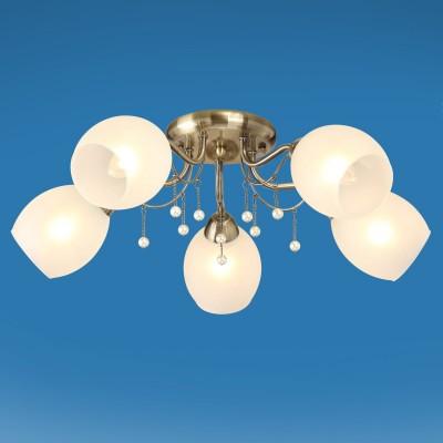 Люстра Colosseo 72501/5C FIONAПотолочные<br><br><br>Тип товара: Люстра<br>Тип лампы: Накаливания / энергосбережения / светодиодная<br>Тип цоколя: E14<br>Количество ламп: 5<br>MAX мощность ламп, Вт: 60<br>Диаметр, мм мм: 620<br>Высота, мм: 190<br>Цвет арматуры: бронзовый