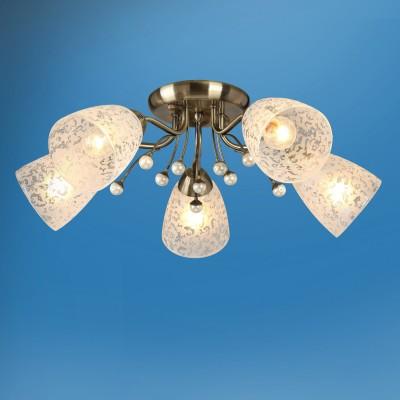 Люстра Colosseo 72502/5C LIVIAПотолочные<br><br><br>Тип товара: Люстра<br>Тип лампы: Накаливания / энергосбережения / светодиодная<br>Тип цоколя: E14<br>Количество ламп: 5<br>MAX мощность ламп, Вт: 60<br>Диаметр, мм мм: 560<br>Высота, мм: 200<br>Цвет арматуры: бронзовый