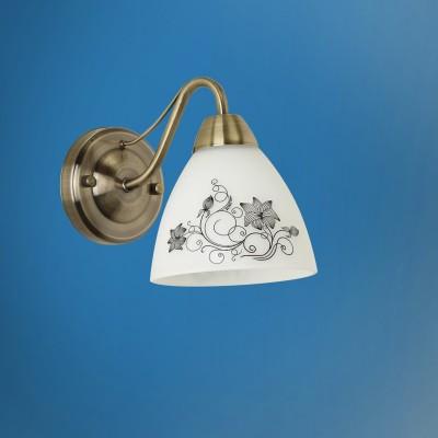 Светильник настенный бра Colosseo 72503/1W MARIANAМодерн<br><br><br>Тип лампы: Накаливания / энергосбережения / светодиодная<br>Тип цоколя: E14<br>Количество ламп: 1<br>Ширина, мм: 135<br>MAX мощность ламп, Вт: 60<br>Расстояние от стены, мм: 215<br>Высота, мм: 185<br>Цвет арматуры: бронзовый