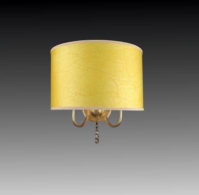 Lightstar PARALUME 725623 Светильник настенный браКлассические<br><br><br>S освещ. до, м2: 6<br>Крепление: настенное<br>Тип лампы: накаливания / энергосбережения / LED-светодиодная<br>Тип цоколя: E14<br>Цвет арматуры: золотой<br>Количество ламп: 2<br>Ширина, мм: 430<br>Размеры: H 340 W x430 Выступ 220<br>Расстояние от стены, мм: 220<br>Высота, мм: 340<br>Оттенок (цвет): золотисто-жёлтый<br>MAX мощность ламп, Вт: 40