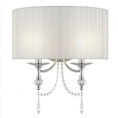 Lightstar PARALUME 725626 Светильник настенный браКлассические<br><br><br>S освещ. до, м2: 6<br>Крепление: настенное<br>Тип лампы: накаливания / энергосбережения / LED-светодиодная<br>Тип цоколя: E14<br>Количество ламп: 2<br>Ширина, мм: 430<br>MAX мощность ламп, Вт: 40<br>Размеры: H min-max460 W450 отступ<br>Расстояние от стены, мм: 220<br>Высота, мм: 340<br>Оттенок (цвет): белый<br>Цвет арматуры: серебристый