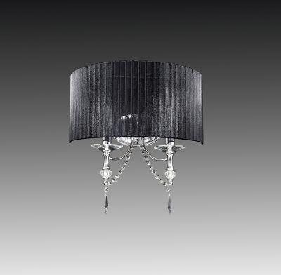 Lightstar PARALUME 725627 Светильник настенный браКлассические<br><br><br>S освещ. до, м2: 6<br>Тип лампы: накаливания / энергосбережения / LED-светодиодная<br>Тип цоколя: E14<br>Количество ламп: 2<br>Ширина, мм: 430<br>MAX мощность ламп, Вт: 40<br>Размеры: H min-max460 W450 отступ<br>Расстояние от стены, мм: 220<br>Высота, мм: 340<br>Оттенок (цвет): черный