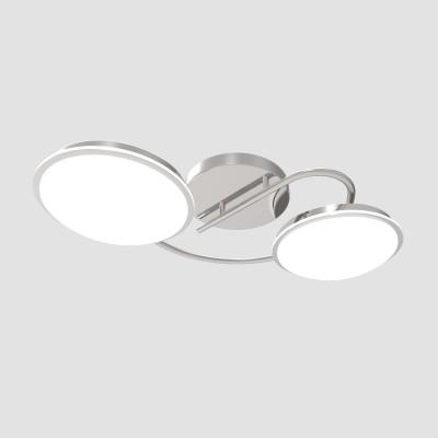 Светильник Colosseo optima 72905/2C хром LEDлюстры хай тек потолочные<br><br><br>Тип лампы: LED - светодиодная<br>Тип цоколя: LED, встроенные светодиоды<br>Цвет арматуры: серебристый<br>Количество ламп: 2<br>Ширина, мм: 260<br>Длина, мм: 480<br>Высота, мм: 235<br>Поверхность арматуры: глянцевая<br>Оттенок (цвет): серебристый<br>MAX мощность ламп, Вт: 12