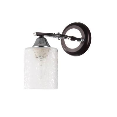 Светильник Colosseo 73001/1W OptimaКлассические<br><br><br>Тип лампы: Накаливания / энергосбережения / светодиодная<br>Тип цоколя: E27<br>Количество ламп: 1<br>Ширина, мм: 110<br>MAX мощность ламп, Вт: 60<br>Длина, мм: 210<br>Высота, мм: 235<br>Цвет арматуры: венге / хром серебристый