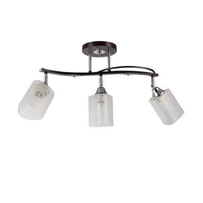 Светильник Colosseo 73001/3C OptimaПоворотные<br><br><br>S освещ. до, м2: 9<br>Тип лампы: Накаливания / энергосбережения / светодиодная<br>Тип цоколя: E27<br>Количество ламп: 3<br>Ширина, мм: 150<br>MAX мощность ламп, Вт: 60<br>Длина, мм: 540<br>Высота, мм: 346<br>Цвет арматуры: венге / хром серебристый