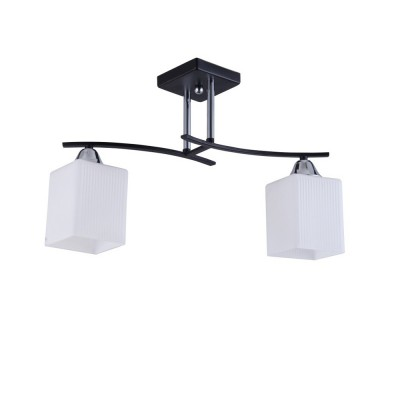 Светильник Colosseo 73003/2C OptimaПотолочные<br><br><br>Тип лампы: Накаливания / энергосбережения / светодиодная<br>Тип цоколя: E27<br>Количество ламп: 2<br>Ширина, мм: 130<br>MAX мощность ламп, Вт: 60<br>Длина, мм: 470<br>Высота, мм: 300<br>Цвет арматуры: черный / хром серебристый