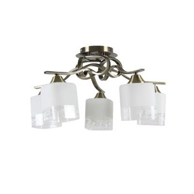 Люстра Colosseo 73005/5C optimaПотолочные<br><br><br>S освещ. до, м2: 15<br>Тип лампы: накаливания / энергосбережения / LED-светодиодная<br>Тип цоколя: E27<br>Цвет арматуры: бронзовый<br>Количество ламп: 5<br>Диаметр, мм мм: 420<br>Высота, мм: 300<br>MAX мощность ламп, Вт: 60