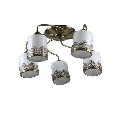 Люстра Colosseo 73008/5C optimaПотолочные<br><br><br>S освещ. до, м2: 15<br>Тип лампы: накаливания / энергосбережения / LED-светодиодная<br>Тип цоколя: E27<br>Цвет арматуры: бронзовый<br>Количество ламп: 5<br>Диаметр, мм мм: 500<br>Высота, мм: 240<br>MAX мощность ламп, Вт: 60