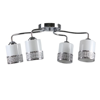 Светильник Colosseo 73009/4Cсовременные потолочные люстры модерн<br><br><br>Тип лампы: Накаливания / энергосбережения / светодиодная<br>Тип цоколя: E27<br>Цвет арматуры: серебристый хром<br>Количество ламп: 4<br>Ширина, мм: 390<br>Высота полная, мм: 230<br>Длина, мм: 640<br>Высота, мм: 230<br>Поверхность арматуры: глянцевая<br>Оттенок (цвет): серебристый<br>MAX мощность ламп, Вт: 60<br>Общая мощность, Вт: 240