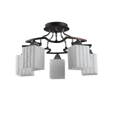 Люстра Colosseo 73011/5C optimaсовременные потолочные люстры модерн<br><br><br>S освещ. до, м2: 15<br>Тип лампы: накаливания / энергосбережения / LED-светодиодная<br>Тип цоколя: E27<br>Цвет арматуры: Венге<br>Количество ламп: 5<br>Диаметр, мм мм: 480<br>Высота полная, мм: 285<br>Высота, мм: 285<br>MAX мощность ламп, Вт: 60